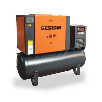 Винтовой воздушный компрессор SETKOM с ременной передачей